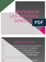 Estructura de Los Archivos Directos