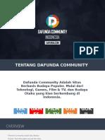 Dafunda Community Media Profil 2017