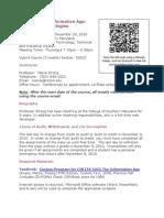 ITS-1015-82823 Syllabus - Fall 2010 Thur