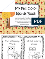 Fall Emergent Reader Coloring Words