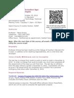 ITS-1015-82467 Syllabus - Fall Mini 2010 Tues