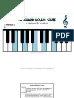 Keyboard Rollin Game