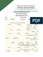Soal UAS Bahasa Arab Kelas 4