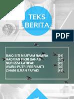 POWER POINT BAHASA INDONESIA [TEKS BERITA}