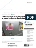 'a Foreigner is Driving' Car Stickers Gain Widespread Attention in Japan _ Inquirer News