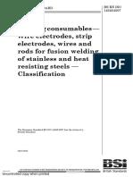 ISO 14343 Welding Consumbale Specification