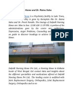 Dafodil Nursing Home and Dr. Ratna Saha