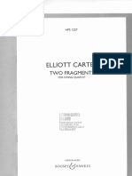 Carter, Elliott - Two Fragments for String Quartet