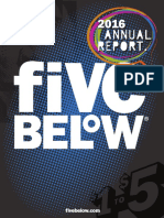 Fivebelow 2016 Annual Report