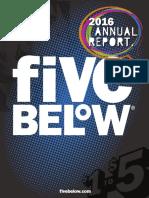 Fivebelow 2016 Annual Report