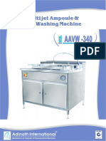 Multijet Ampoule & Vial Washing Machine
