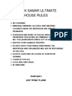 Sparkhouse Rules