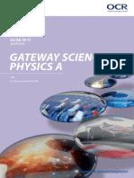 OCR GCSE Physics A Specification