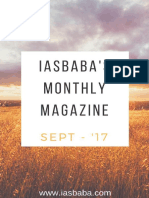 IASbabas Current Affairs Magazine September 2017