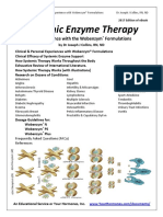 Systemic Enzyme Therapy Experience With Wobenzym Formulations(1)