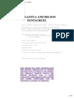 Rabelais Gargantua and Pantagruel