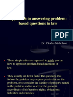 Approach to Answering Problem-Based Questions in Law