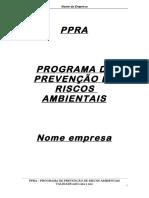 PPRA - Modelo