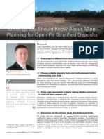 10 Things You Should Know About Mine Planning for Open Pit Stratified Deposits