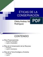 Eticas de La Conservacion