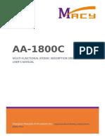 AA 1800C User's Manual 1