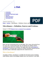 Microfinance – Definition, Sources and Problems « Microfinance Hub