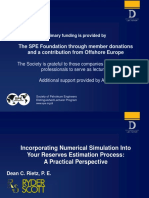 Incorporating Numerical Simulation Into Your Reserves Estimation Process Rietz Dean