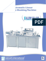 Automatic Linear Bottle Washing Machine