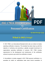 What Documentation Required for ISO 17024:2012 Certification?