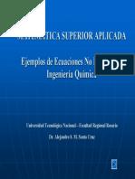 Ejemplos MATLAB Ecuaciones No Lineales en IQ MSA