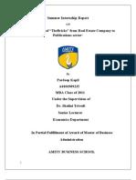 Summer Internship Report(A0101909235)