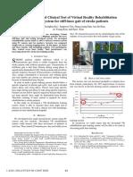 Desarrollo y Prueba Clínica Del Sistema de Entrenamiento de Rehabilitación de Realidad Virtual Para El Paciente Con Paso de Rodilla Rígido
