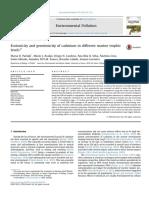 1D Pavlaki Et Al. (2016) - Ecotoxicity and Genotoxicity of Cadmium in Different Marine Trophic Levels