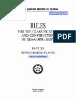RMRS Pt.12 Refrigerating Plants