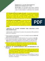 Plazos y Términos en La Ley Del Procedimiento Administrativo General Ley n
