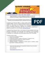 Jonas Donizette é um dos 10 melhores deputados de São Paulo