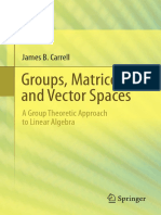 Carrell J_Groups, Matrices, And Vector Spaces