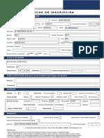 Ficha de Inscripción Digital - Excel - CADPERU