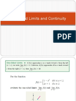 One-sided Limits and Continuity(2)