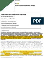 Tamaño Empresarial e Innovación Tecnológica en La Economía Española