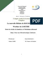 La Nouvelle Héloïse vs Werther de Goethe