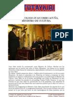 Juan Ossio, el nuevo Ministro de Cultura, Revista Tutaykiri del CPALIMA