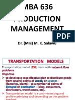 Mba 636__dr Mrs Salawu_transportation Models