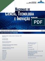 Indicadores Nacionais de Ciência, Tecnologia e Inovação 2017