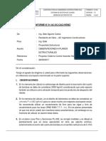 INFORME N° 01 OBSERVACIONES DE PLANOS EDERTH.