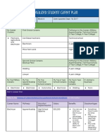 dylan page - careers personalized student career plan