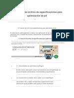 Seccion 9 -Creacion Del Archivo de Especificaciones Para Pit Optimizer