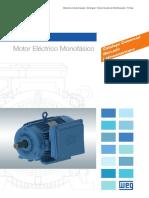 WEG w22 Motor Electrico Monofasico Tecnico Mercado Latinoamericano 50070884 Catalogo Espanol