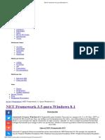 NET Framework 3.5 Para Windows 8