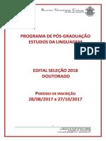 Edital Doutorado - Seleção 2018.1 - Estudos Da Linguagem